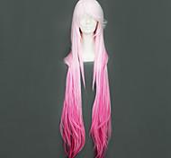 Cosplay Wigs Guilty Crown Inori Yuzuriha Pink Long Anime Cosplay Wigs 110 CM Heat Resistant Fiber Female