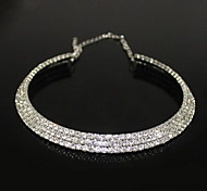cheap -Women's Crystal Zircon Rhinestone Choker Necklace - Fashion Silver Necklace For Party
