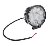 27W натуральный белый круглый свет Светодиодные лампы для автомобиля прожектор (12V)