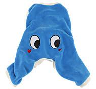 Cani Costumi Tuta Blu Abbigliamento per cani Inverno Primavera/Autunno Cartoni animati Divertente Cosplay