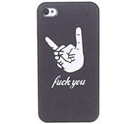 Hand Pattern Hard Case für iPhone 4/4S