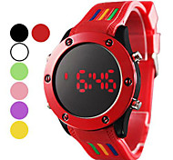 cheap -Men's Digital Sport Watch LED Silicone Band Charm Black White Red Green Pink Purple Yellow