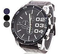 V6® Men's Watch Military Big Round Dial Fabric Band Cool Watch Unique Watch Fashion Watch