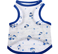 Cane T-shirt Abbigliamento per cani Cartoni animati Blu Rosa Costume Per animali domestici