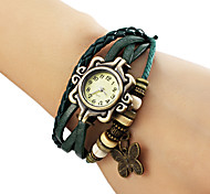 Women's Butterfly Pendant Leather Band Quartz Analog Bracelet Watch (Assorted Colors) Cool Watches Unique Watches Fashion Watch Strap Watch