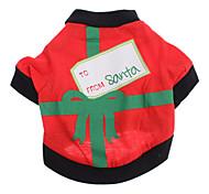 Cani T-shirt Nero / Verde Abbigliamento per cani Estate Natale