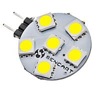 cheap -SENCART 1W 6500 lm G4 LED Bi-pin Lights 6 leds SMD 5050 Natural White DC 12V