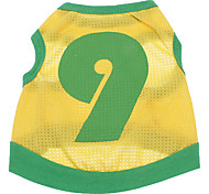 Dog Shirt / T-Shirt Jersey Dog Clothes Sports Letter & Number Costume For Pets
