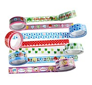 Fancy Adhesive Tape(Set Of 4 Random Color) For School / Office