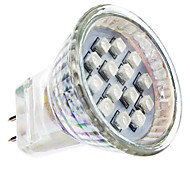 GU4(MR11) Focos LED MR11 14 leds SMD 3528 Rojo AC 100-240