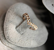 cheap -Women's Band Rings Luxury Love Crystal Imitation Diamond Alloy Heart Jewelry Anniversary Gift Daily Valentine