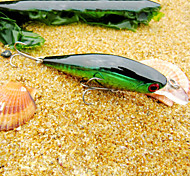 Недорогие -штук Жесткая наживка Воблер прогонистой формы Зеленый Золотой красный г/Унция мм дюймовый,Жесткие пластиковыеМорское рыболовство