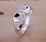 cheap -Women's Silver Plated Alloy Infinity Statement Ring - Jewelry Infinity Personalized Luxury Unique Design Silver Ring For Wedding Party
