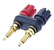 cheap -Banana Plug Binding Post Welding Gold-Plated Black&Red for Home Theater