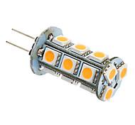 2W G4 GU4(MR11) LED a pannocchia T 18 leds SMD 5050 Bianco caldo Luce fredda 180-220lm 3000K AC 12V