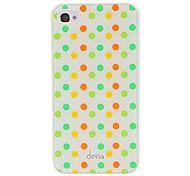 DEVIA Краткой Круглый Красочный шаблонов точек Гладкая поверхность Рс Жесткий чехол для iPhone 4/4S