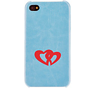 preiswerte -Solid Color Heart to Heart Pattern PC Hard Case mit Interior Beflockung Protectionfor iPhone 4/4S (Optional Farben)