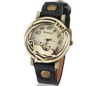 Недорогие -Муж. Кварцевый Модные часы Горячая распродажа PU Группа Винтаж Матовый черный Черный