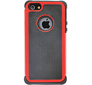 Für iPhone 5 Hülle Stoßresistent Hülle Rückseitenabdeckung Hülle Panzer Hart Silikon iPhone SE/5s/5