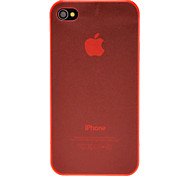 DEVIA Solid Color Ultrathin TPU Soft Case for iPhone 4/4S (Optional Colors)