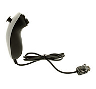 Wired Nunchuck Game Controller for Nintendo Wii/Wii U (Black + White)