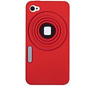 Kamera Pattern Silicon Case für iPhone 4/4S (verschiedene Farben)