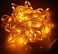 100-LED 10M Праздник Рождество украшения желтого света шнура СИД