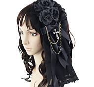 cheap -Lolita Jewelry Gothic Lolita Dress Headwear Princess Men's Women's Black Lolita Accessories Bowknot Headpiece Lace Satin Artificial