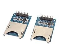 Недорогие -Micro SD / TF слот для карты Чтение Запись модулей - синий + серебро (2 шт)