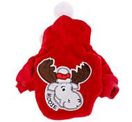 Недорогие -Собака Плащи Толстовки Одежда для собак Рождество Красный Синий Костюм Для домашних животных