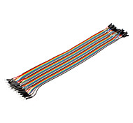 cheap -40Pin 1P-1P Male to Female Dupont Line Colorful Dupont Wire(30CM)