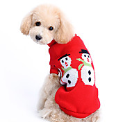 Dog Sweater Red Dog Clothes Winter Solid Cute / Keep Warm / Christmas