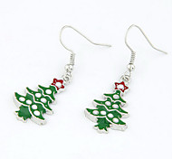 Christmas Gift Christmas Tree Green Drop Earrings