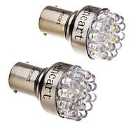 cheap -2 Pcs 1157 T25 BAY15D 2057 2W 19-LED 120-140LM 6000-6500K Cool White Light LED Car Brake Stop Tail Light (12V)