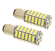 Bay15d/1157 8W 120x3020SMD 660LM 5500-6500K Cool White Light LED Bulb for Car (12V,2pcs)