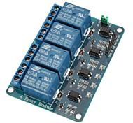 Недорогие -4-канальный релейный модуль с оптопарой 5V для pic avr dsp arm для arduino