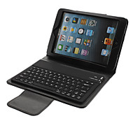 Business Style PU Folio Case with Bluetooth 3.0 Keyboard, Stand and Charging Cable for iPad mini (70cm)