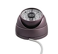 Недорогие -CCTV 600TVL CMOS Indoor / Outdoor IR Вандалозащищенная купольная камера безопасности