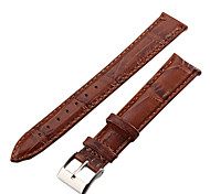 cheap -Unisex 18mm Crocodile Grain Leather Watch Band (Brown) Cool Watch Unique Watch Fashion Watch