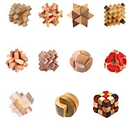 cheap -Wooden Puzzles IQ Brain Teaser Puzzles Game IQ Test Lovely Fun Convenient Wood Classic Children's Gift
