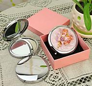 Недорогие -Персональный подарок Цветочные Стиль Розовый Chrome компактное зеркало