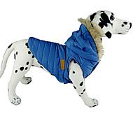 Недорогие -Собака Плащи Толстовки Жилет Одежда для собак Однотонный Коричневый Синий Розовый Костюм Для домашних животных