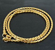 Men's Women's Chain Necklaces Stainless Steel Fashion Costume Jewelry Jewelry For Daily