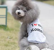 Недорогие -Кошка Собака Футболка Одежда для собак Дышащий Очаровательный На каждый день День рождения С сердцем Серый Костюм Для домашних животных