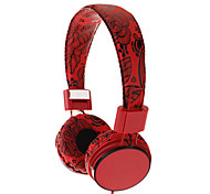 EP058 Flower Pattern Foldable On-Ear Headphone with Mic