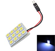 Недорогие -Merdia T10 12 х 5050 SMD белый светодиод для чтения лампа лампы (12V)