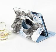 Недорогие -Кейс для Назначение iPad Mini 3/2/1 со стендом С функцией автовывода из режима сна Поворот на 360° Чехол Цветы Кожа PU для iPad Mini 3/2/1