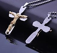 Недорогие -Персональный подарок из нержавеющей стали Иисус Библии крестообразный выгравированы кулон ожерелье с 60 см цепи