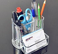Acrylic Transparent 2in1 Pen Container Brush Pot&Business Card Case Holder