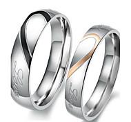 Недорогие -Жен. Кольца для пар Обручальное кольцо Любовь Свадьба Нержавеющая сталь В форме сердца Бижутерия Назначение Свадьба Для вечеринок День